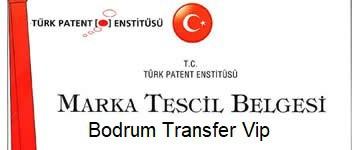 Bodrum Transfer Vip Marka Tescil Belgesi